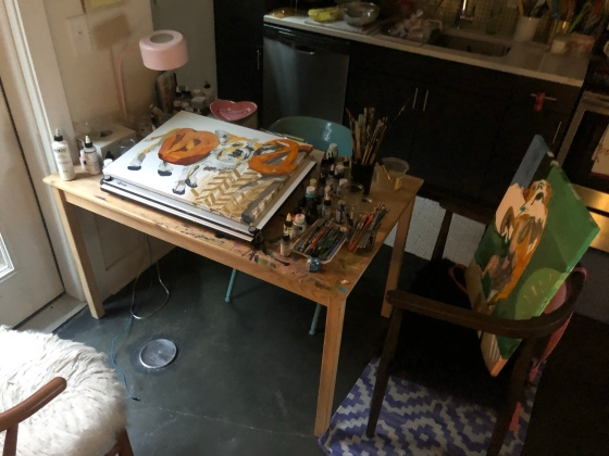 Kitchen-table-art-studio