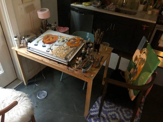Kitchen-table-art-studio